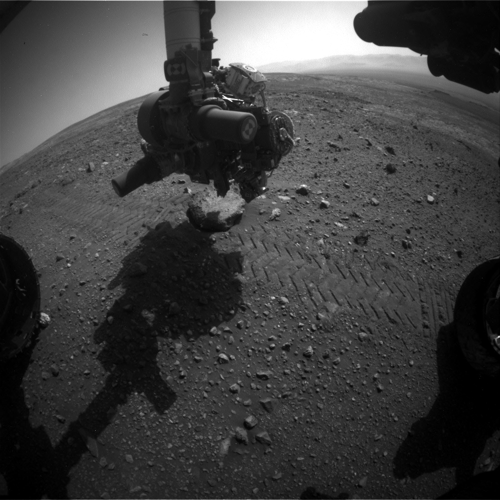 Nasa's Mars rover Curiosity acquired this image using its Front Hazard Avoidance Camera (Front Hazcam) on Sol 2022, at drive 1768, site number 69