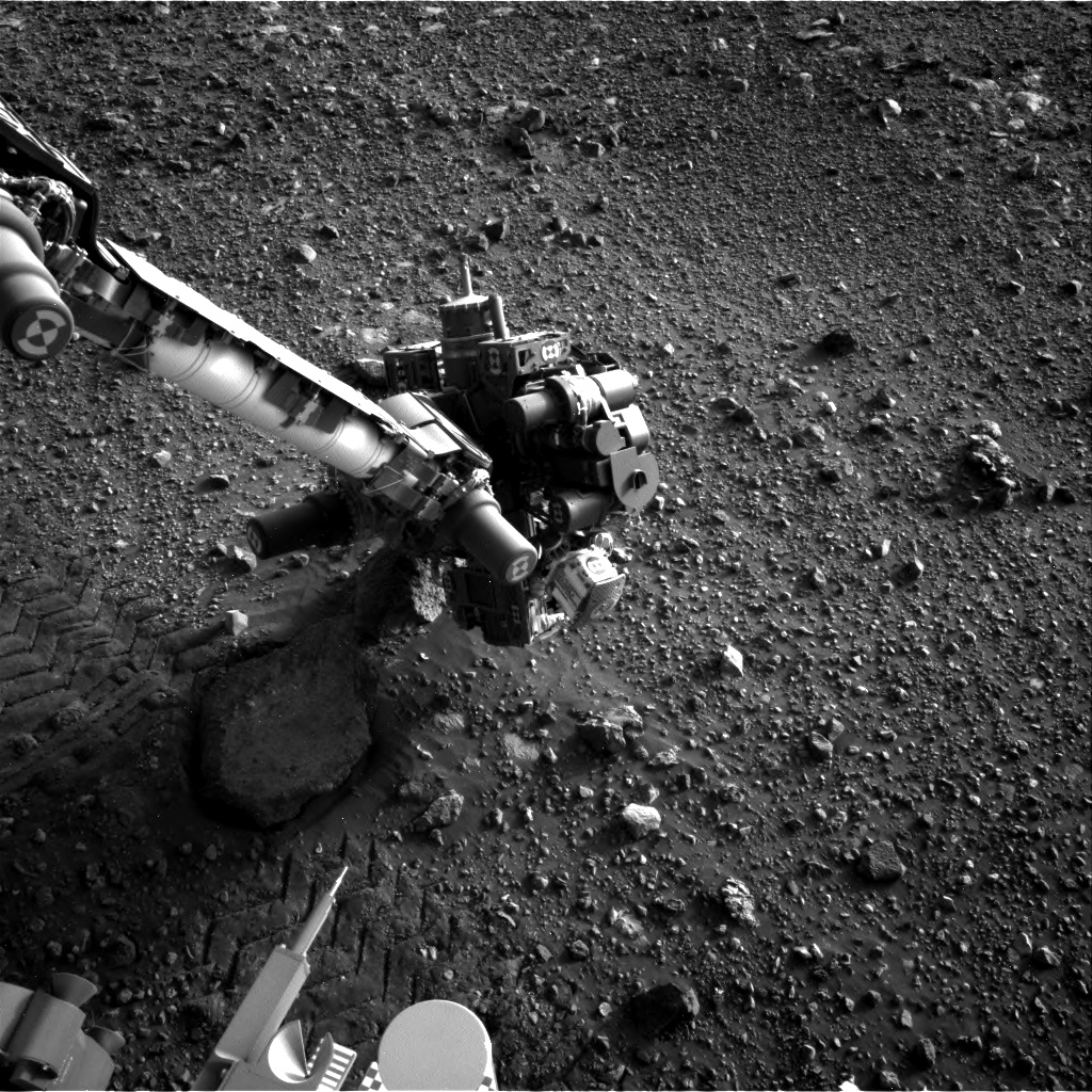 Nasa's Mars rover Curiosity acquired this image using its Right Navigation Camera on Sol 2022, at drive 1768, site number 69