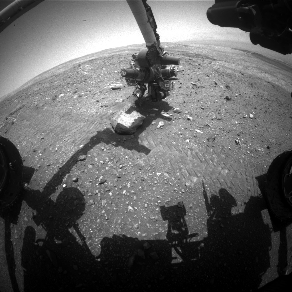 Nasa's Mars rover Curiosity acquired this image using its Front Hazard Avoidance Camera (Front Hazcam) on Sol 2023, at drive 1768, site number 69