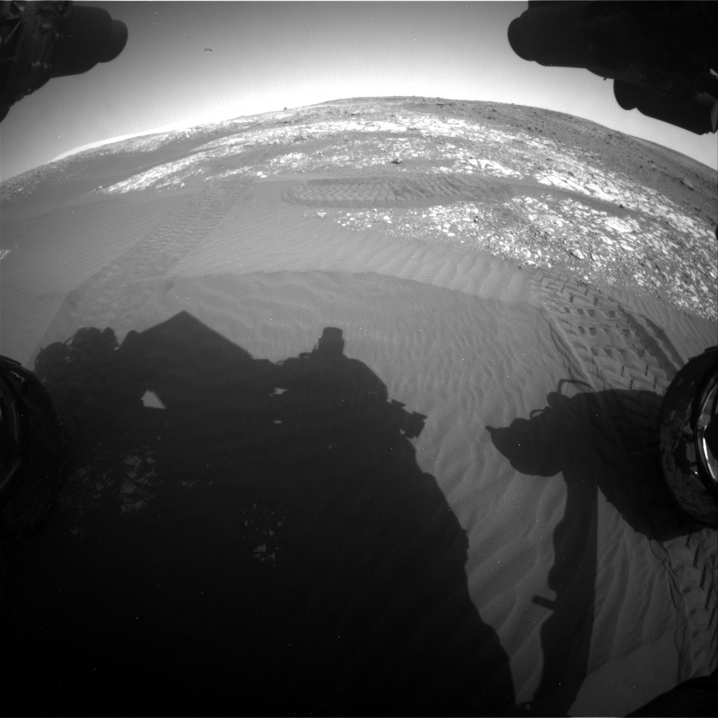 Nasa's Mars rover Curiosity acquired this image using its Front Hazard Avoidance Camera (Front Hazcam) on Sol 2023, at drive 1858, site number 69