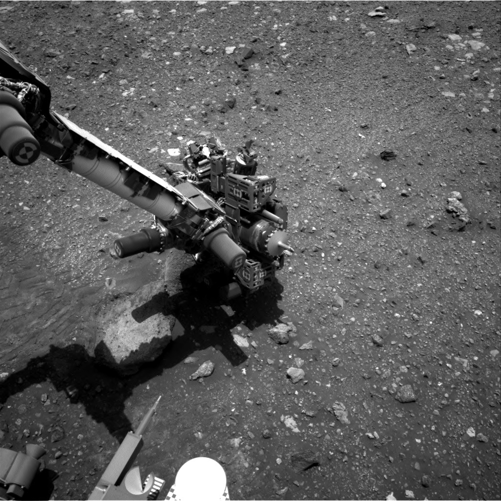 NASA's Mars rover Curiosity acquired this image using its Right Navigation Cameras (Navcams) on Sol 2023