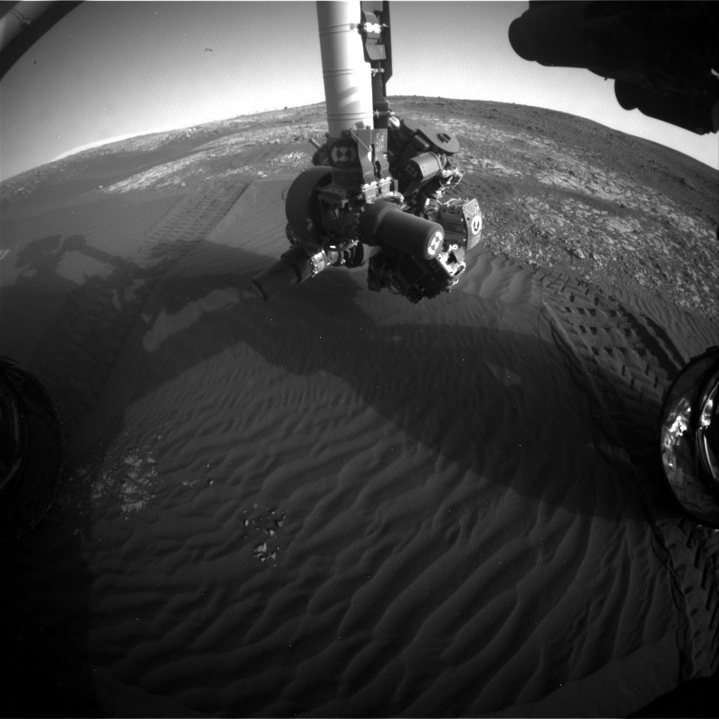 Nasa's Mars rover Curiosity acquired this image using its Front Hazard Avoidance Camera (Front Hazcam) on Sol 2025, at drive 1858, site number 69