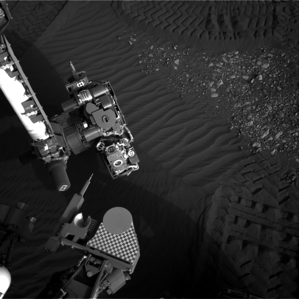 Nasa's Mars rover Curiosity acquired this image using its Right Navigation Camera on Sol 2025, at drive 1858, site number 69