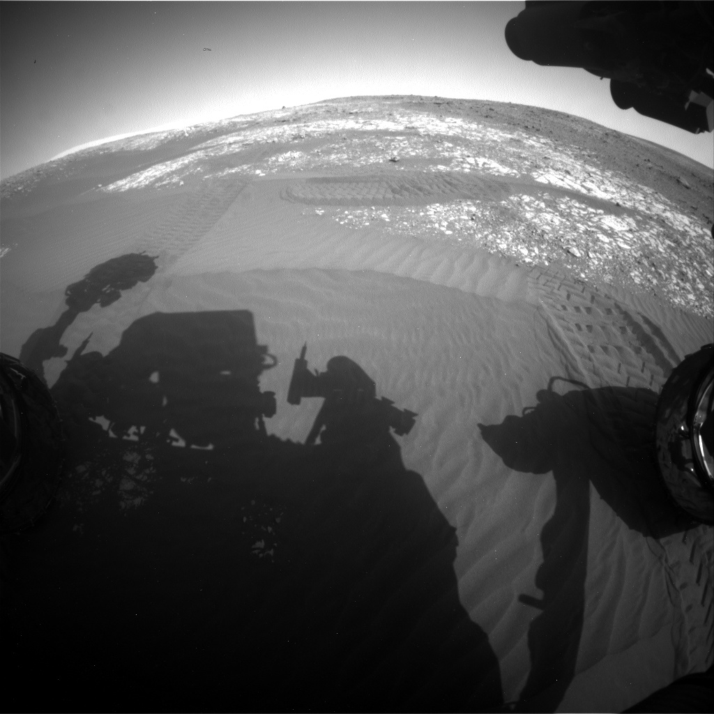 Nasa's Mars rover Curiosity acquired this image using its Front Hazard Avoidance Camera (Front Hazcam) on Sol 2026, at drive 1858, site number 69
