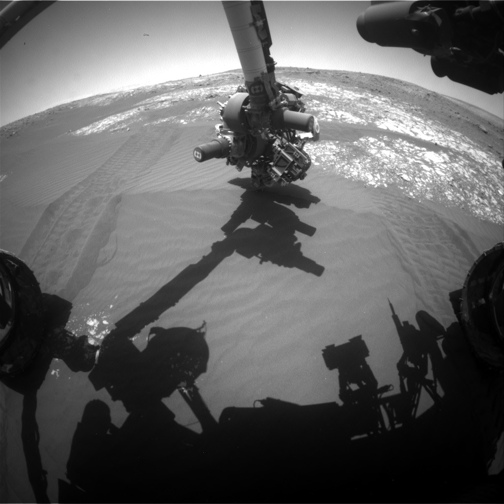 Nasa's Mars rover Curiosity acquired this image using its Front Hazard Avoidance Camera (Front Hazcam) on Sol 2027, at drive 1858, site number 69