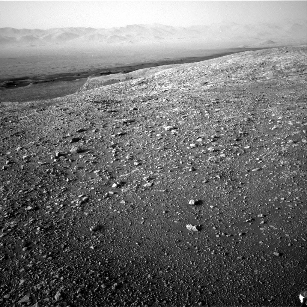NASA's Mars rover Curiosity acquired this image using its Right Navigation Cameras (Navcams) on Sol 2027