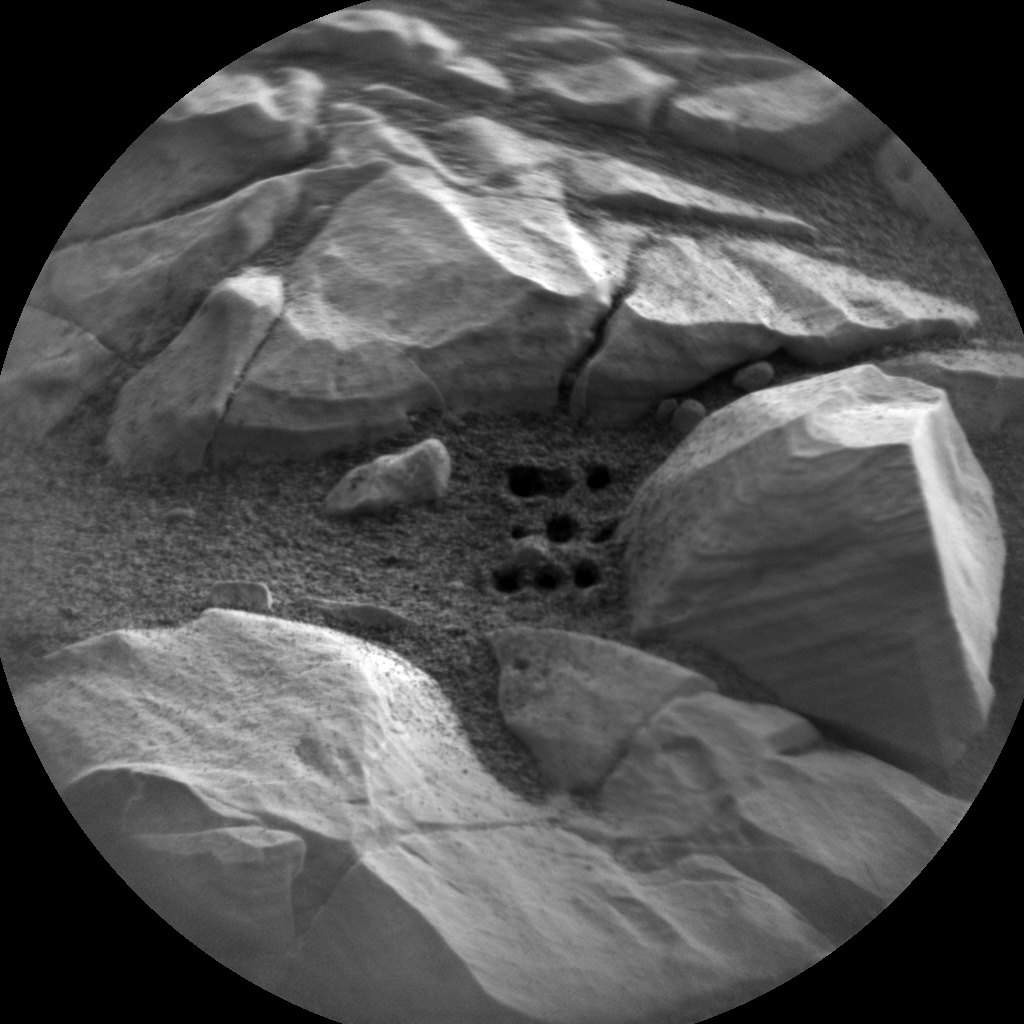 Nasa's Mars rover Curiosity acquired this image using its Chemistry & Camera (ChemCam) on Sol 2027, at drive 2456, site number 69