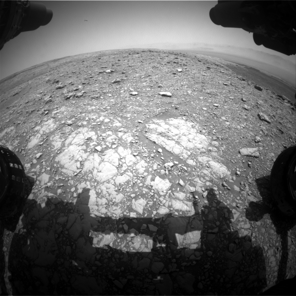 NASA's Mars rover Curiosity acquired this image using its Front Hazard Avoidance Cameras (Front Hazcams) on Sol 2031