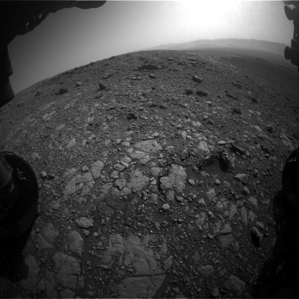 Nasa's Mars rover Curiosity acquired this image using its Front Hazard Avoidance Camera (Front Hazcam) on Sol 2032, at drive 2766, site number 69