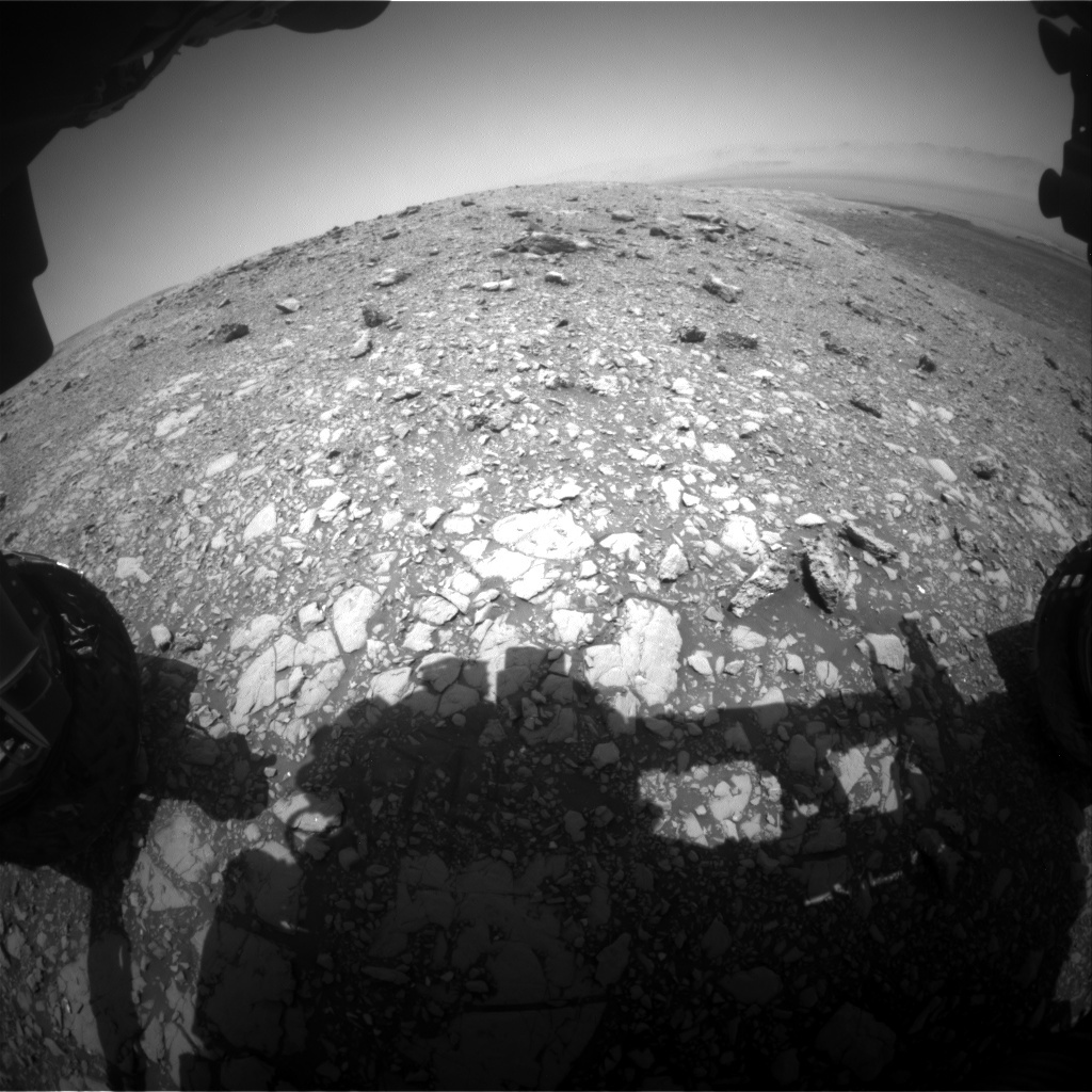 NASA's Mars rover Curiosity acquired this image using its Front Hazard Avoidance Cameras (Front Hazcams) on Sol 2033