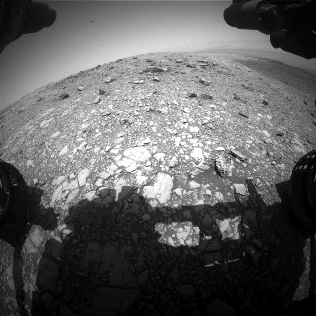 Nasa's Mars rover Curiosity acquired this image using its Front Hazard Avoidance Camera (Front Hazcam) on Sol 2033, at drive 2766, site number 69