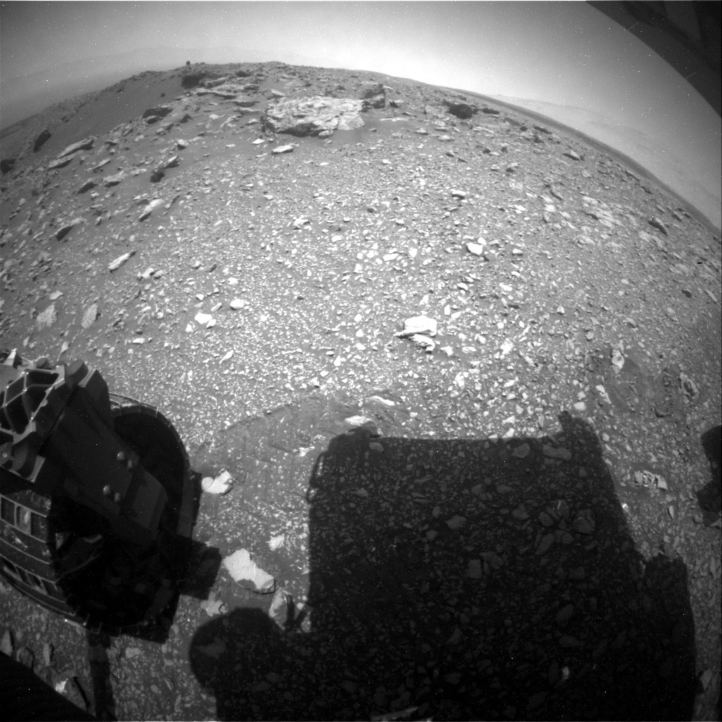 NASA's Mars rover Curiosity acquired this image using its Rear Hazard Avoidance Cameras (Rear Hazcams) on Sol 2033