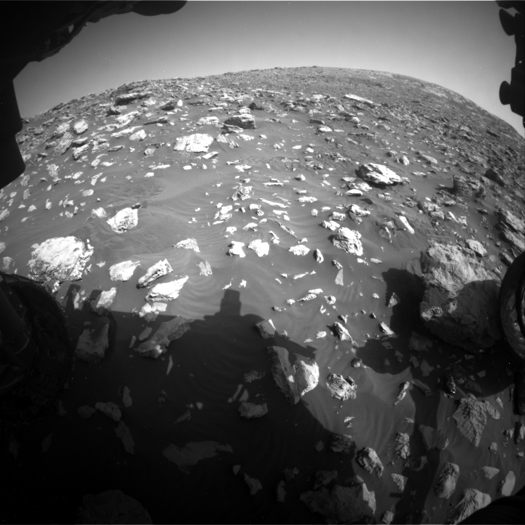 Nasa's Mars rover Curiosity acquired this image using its Front Hazard Avoidance Camera (Front Hazcam) on Sol 2034, at drive 0, site number 70