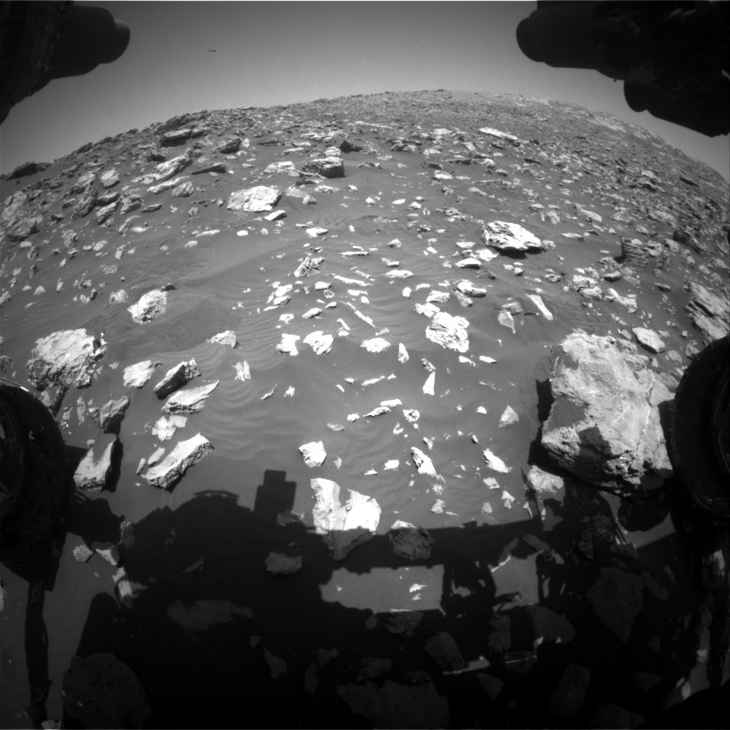 Nasa's Mars rover Curiosity acquired this image using its Front Hazard Avoidance Camera (Front Hazcam) on Sol 2035, at drive 0, site number 70