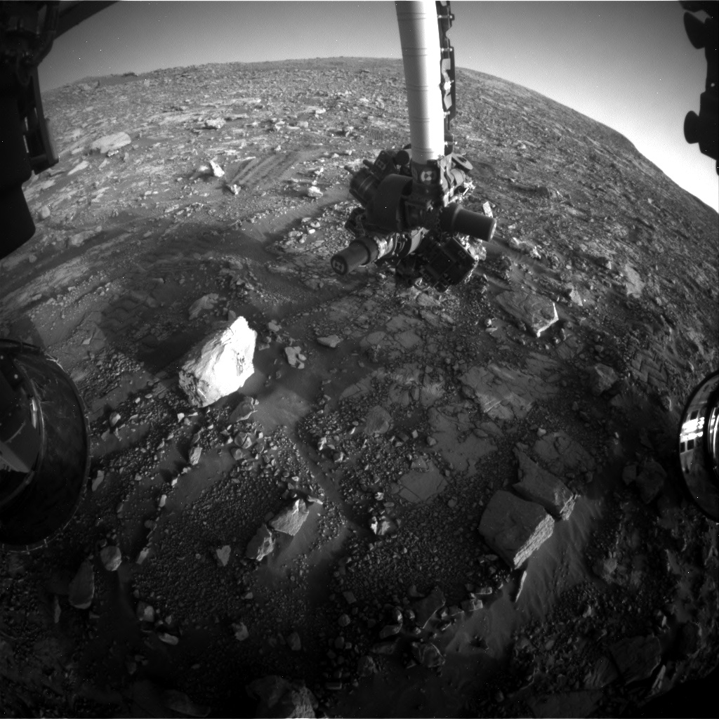 Nasa's Mars rover Curiosity acquired this image using its Front Hazard Avoidance Camera (Front Hazcam) on Sol 2038, at drive 240, site number 70