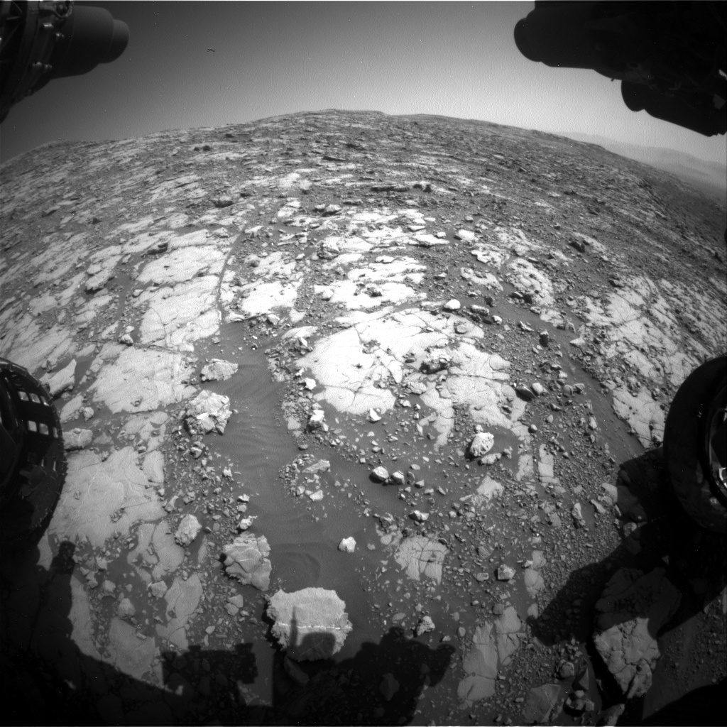 Nasa's Mars rover Curiosity acquired this image using its Front Hazard Avoidance Camera (Front Hazcam) on Sol 2039, at drive 552, site number 70