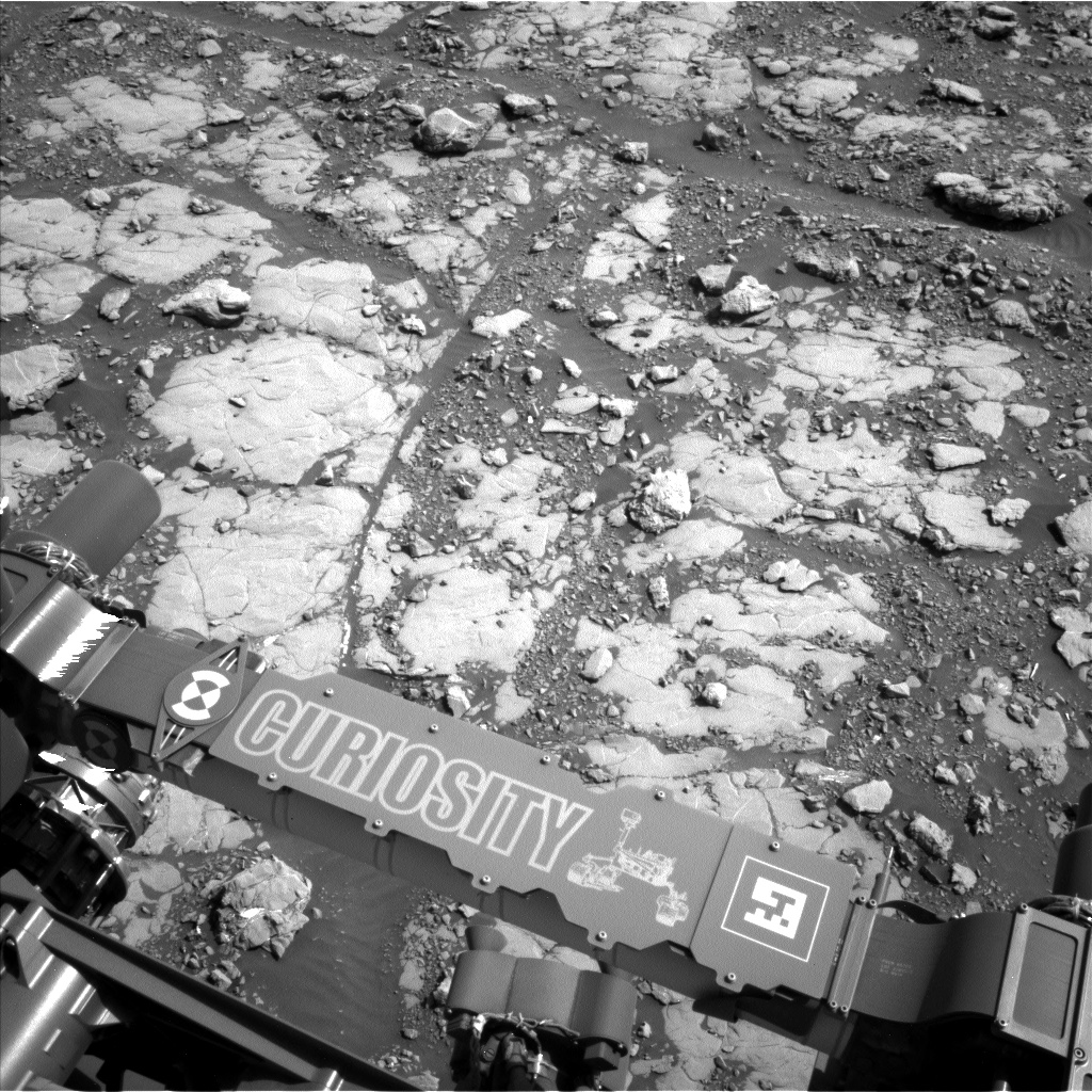 Nasa's Mars rover Curiosity acquired this image using its Left Navigation Camera on Sol 2039, at drive 552, site number 70