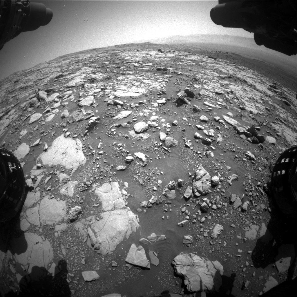 Nasa's Mars rover Curiosity acquired this image using its Front Hazard Avoidance Camera (Front Hazcam) on Sol 2040, at drive 886, site number 70