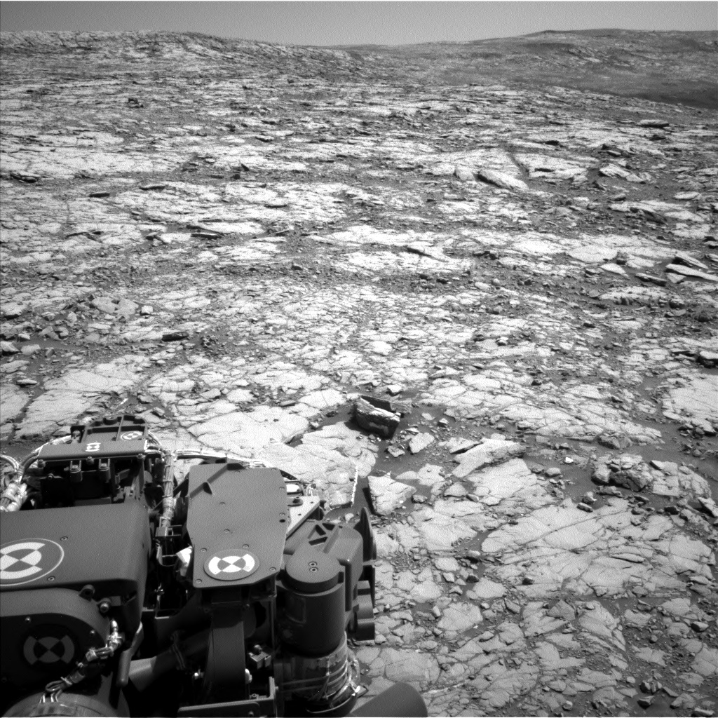 Nasa's Mars rover Curiosity acquired this image using its Left Navigation Camera on Sol 2041, at drive 1000, site number 70