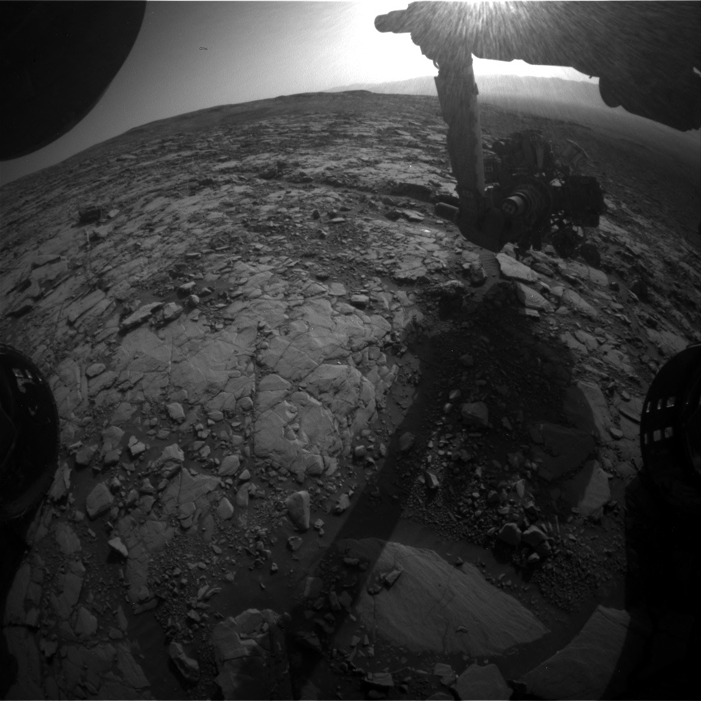Nasa's Mars rover Curiosity acquired this image using its Front Hazard Avoidance Camera (Front Hazcam) on Sol 2042, at drive 1000, site number 70