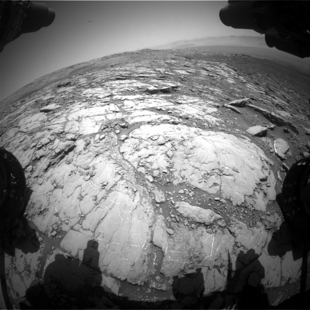 Nasa's Mars rover Curiosity acquired this image using its Front Hazard Avoidance Camera (Front Hazcam) on Sol 2044, at drive 1138, site number 70