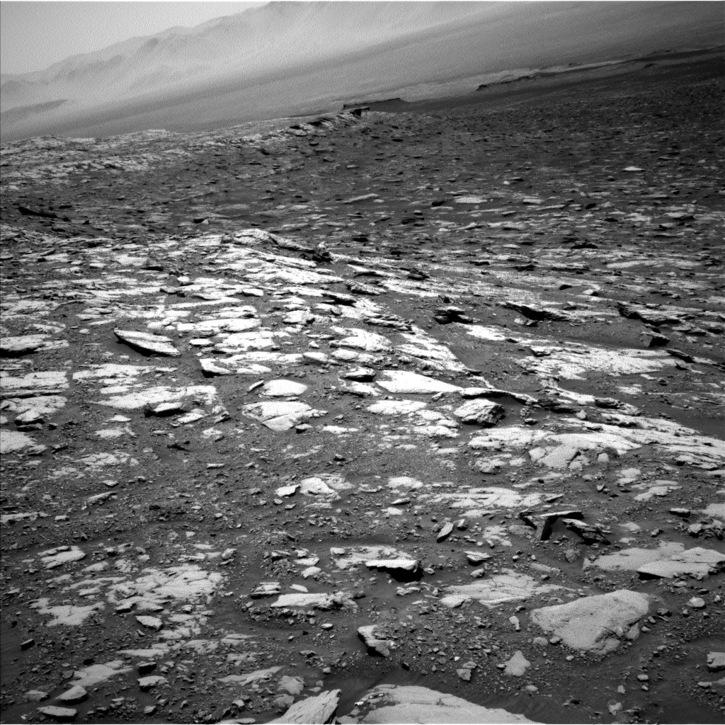 Nasa's Mars rover Curiosity acquired this image using its Left Navigation Camera on Sol 2044, at drive 1138, site number 70