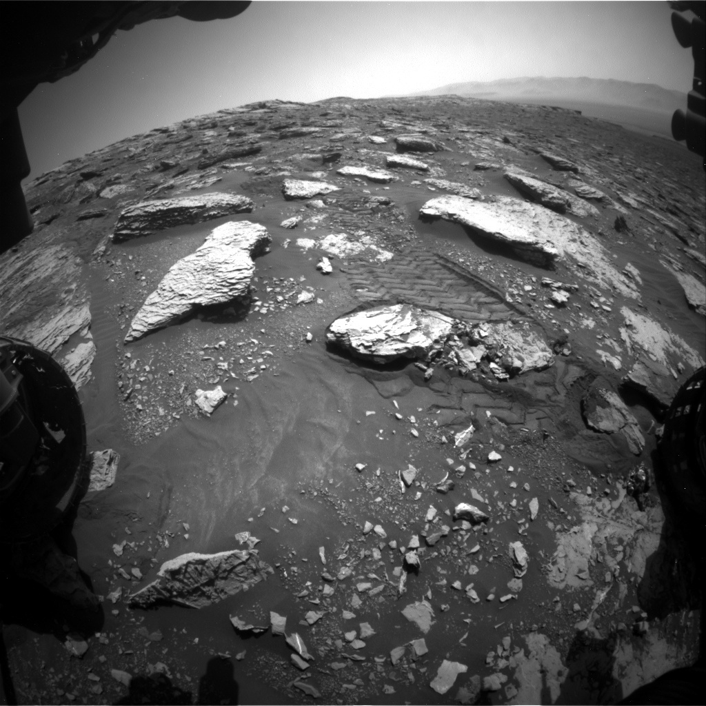 NASA's Mars rover Curiosity acquired this image using its Front Hazard Avoidance Cameras (Front Hazcams) on Sol 2045
