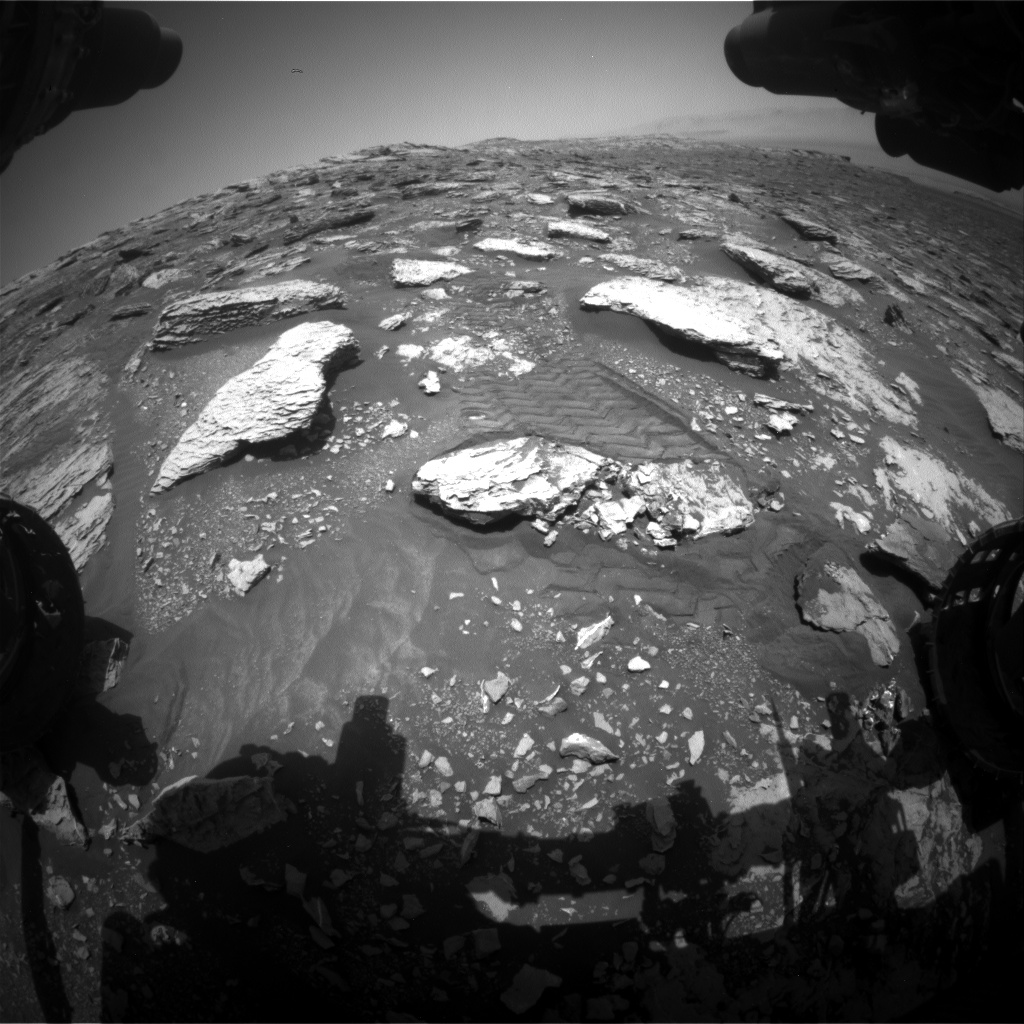 Nasa's Mars rover Curiosity acquired this image using its Front Hazard Avoidance Camera (Front Hazcam) on Sol 2047, at drive 1430, site number 70