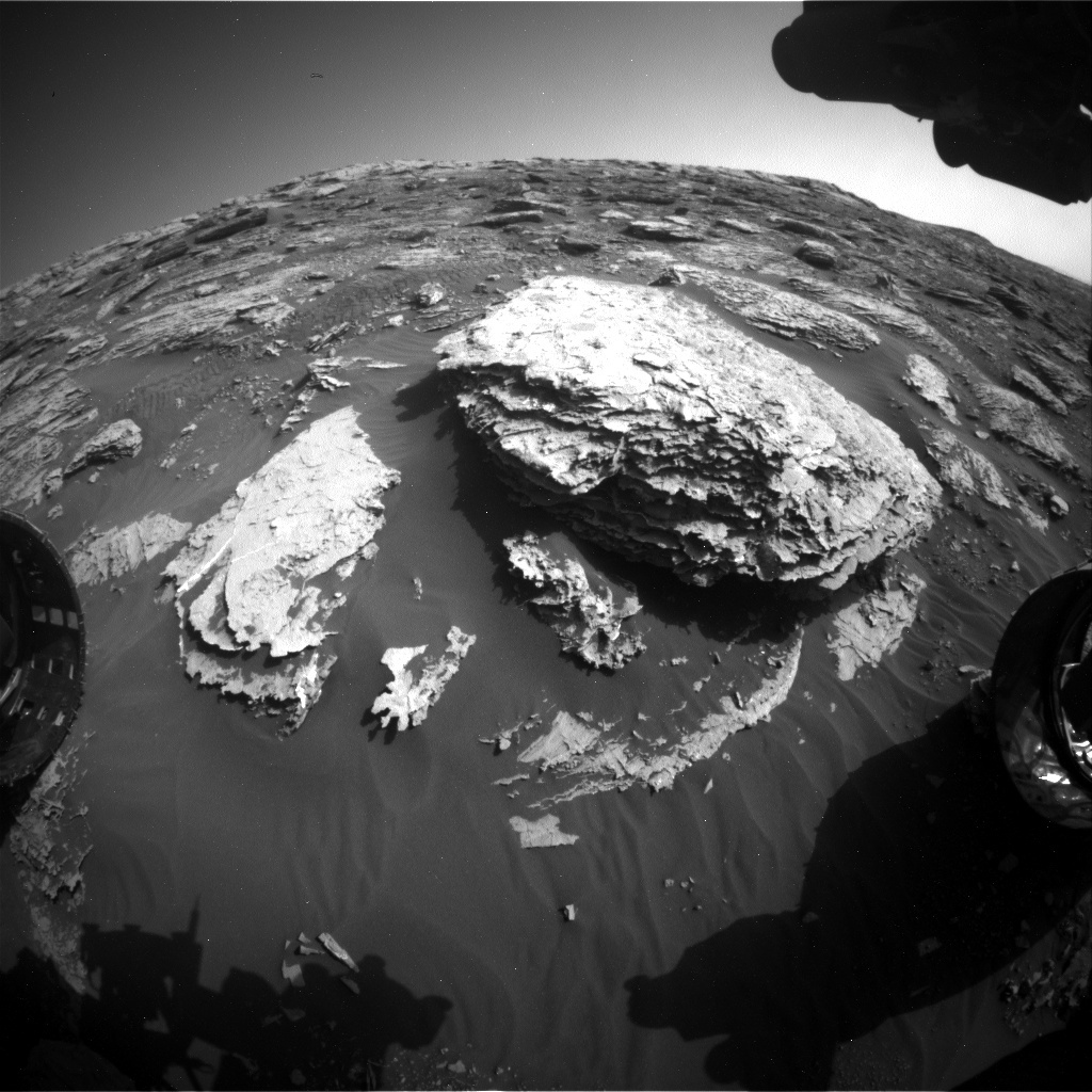 NASA's Mars rover Curiosity acquired this image using its Front Hazard Avoidance Cameras (Front Hazcams) on Sol 2048