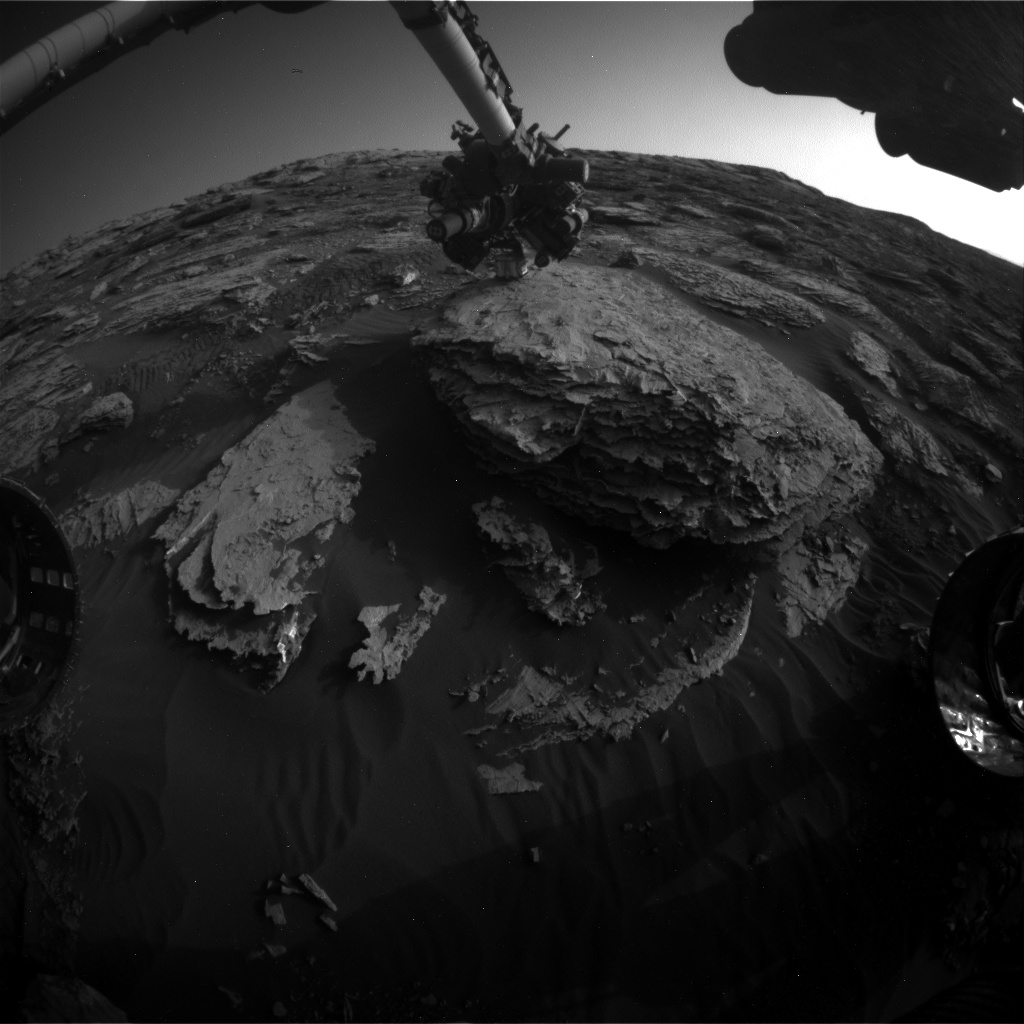 Nasa's Mars rover Curiosity acquired this image using its Front Hazard Avoidance Camera (Front Hazcam) on Sol 2048, at drive 1538, site number 70