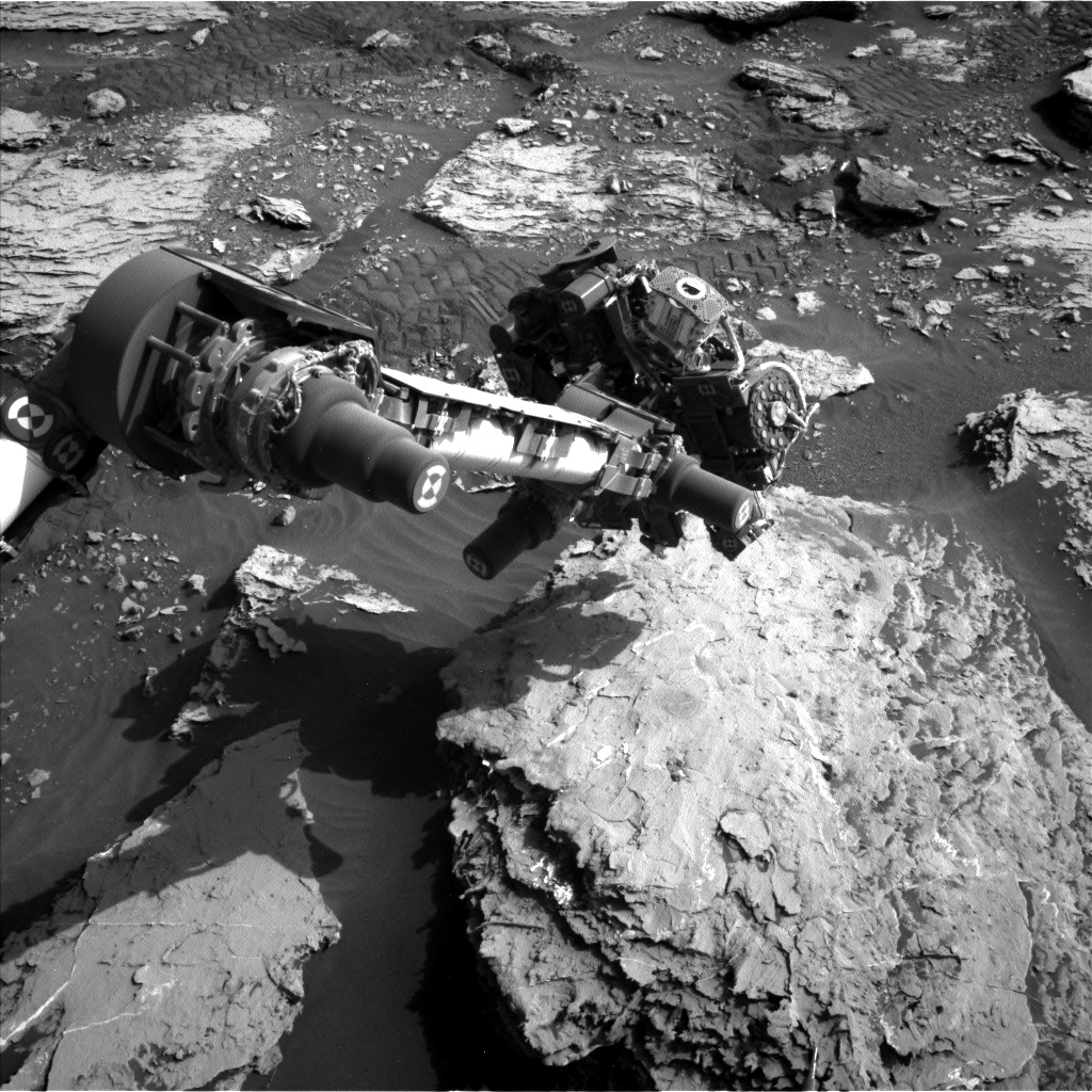 Nasa's Mars rover Curiosity acquired this image using its Left Navigation Camera on Sol 2048, at drive 1538, site number 70