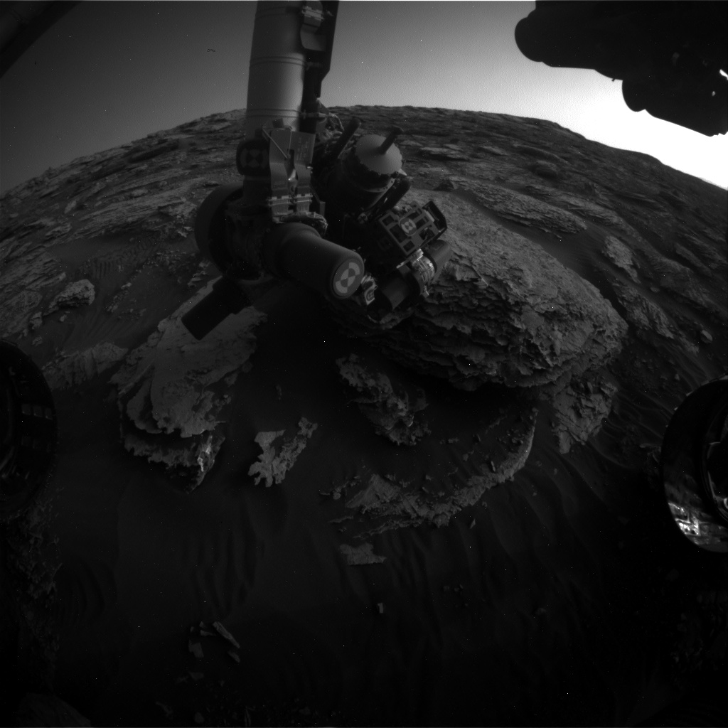 Nasa's Mars rover Curiosity acquired this image using its Front Hazard Avoidance Camera (Front Hazcam) on Sol 2049, at drive 1538, site number 70