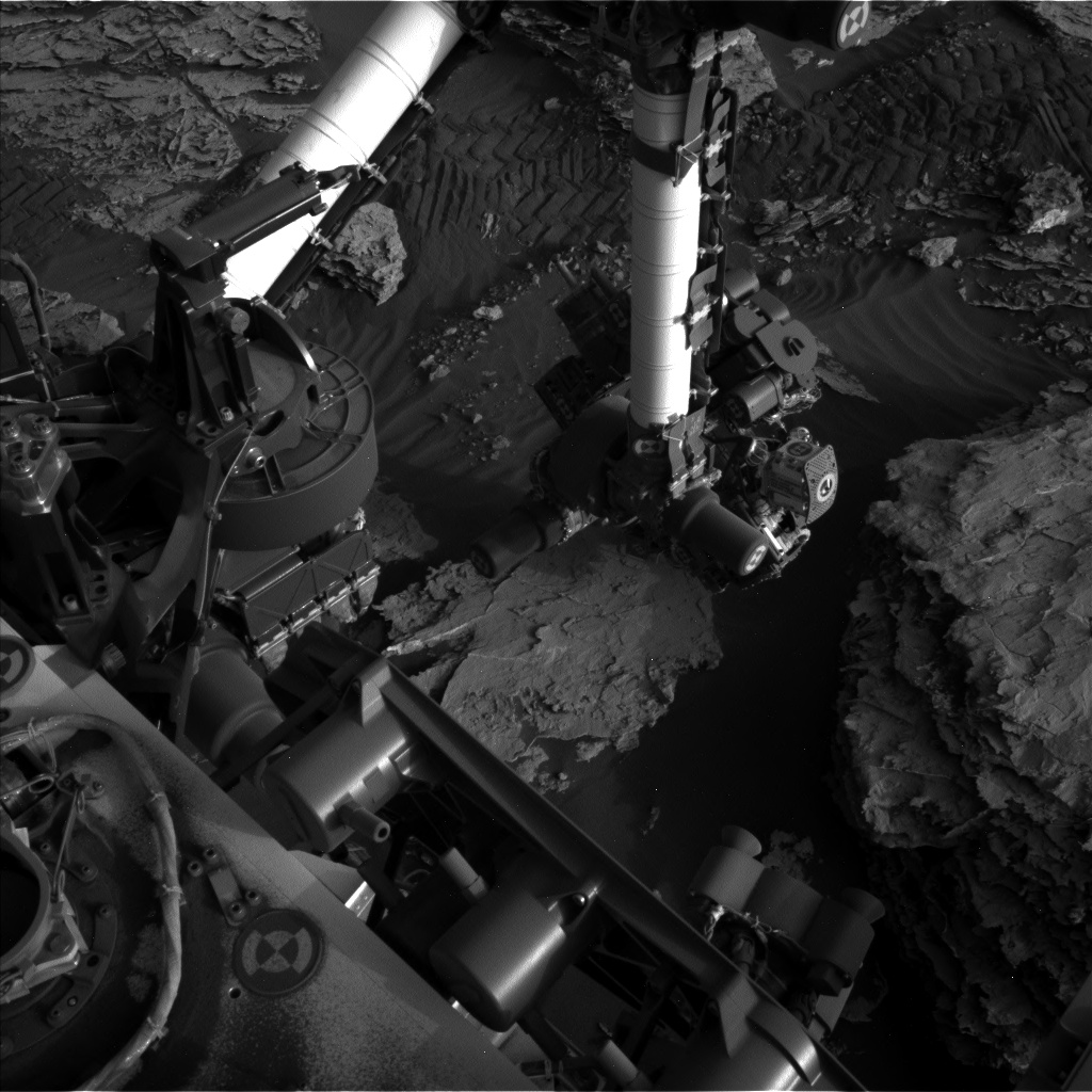 Nasa's Mars rover Curiosity acquired this image using its Left Navigation Camera on Sol 2049, at drive 1538, site number 70