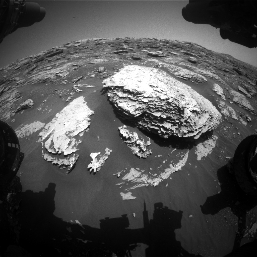 Nasa's Mars rover Curiosity acquired this image using its Front Hazard Avoidance Camera (Front Hazcam) on Sol 2050, at drive 1538, site number 70