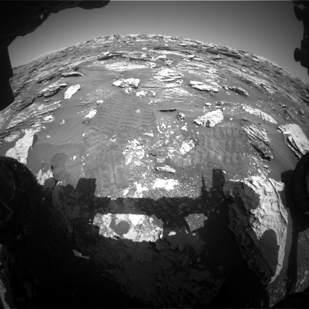 Nasa's Mars rover Curiosity acquired this image using its Front Hazard Avoidance Camera (Front Hazcam) on Sol 2051, at drive 1554, site number 70