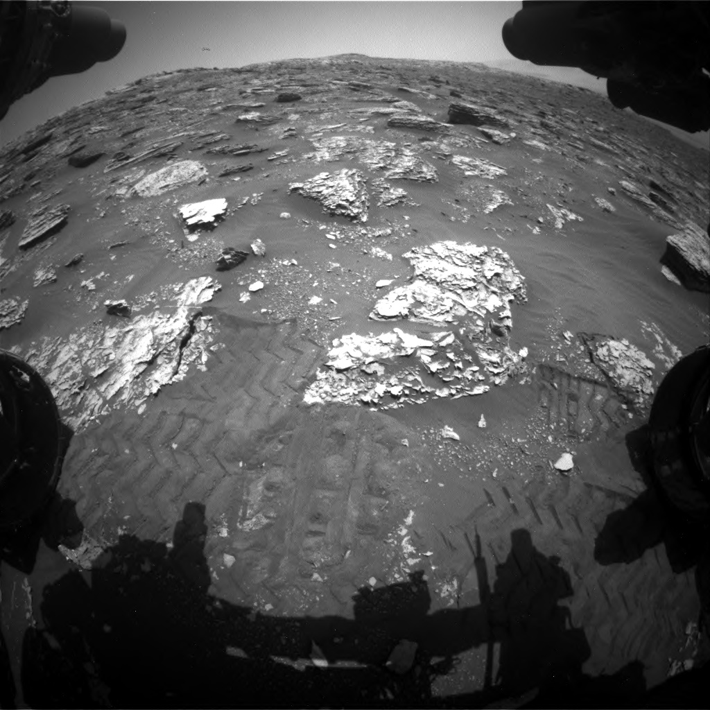 Nasa's Mars rover Curiosity acquired this image using its Front Hazard Avoidance Camera (Front Hazcam) on Sol 2052, at drive 1668, site number 70
