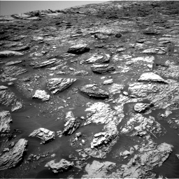 Nasa's Mars rover Curiosity acquired this image using its Left Navigation Camera on Sol 2052, at drive 1598, site number 70