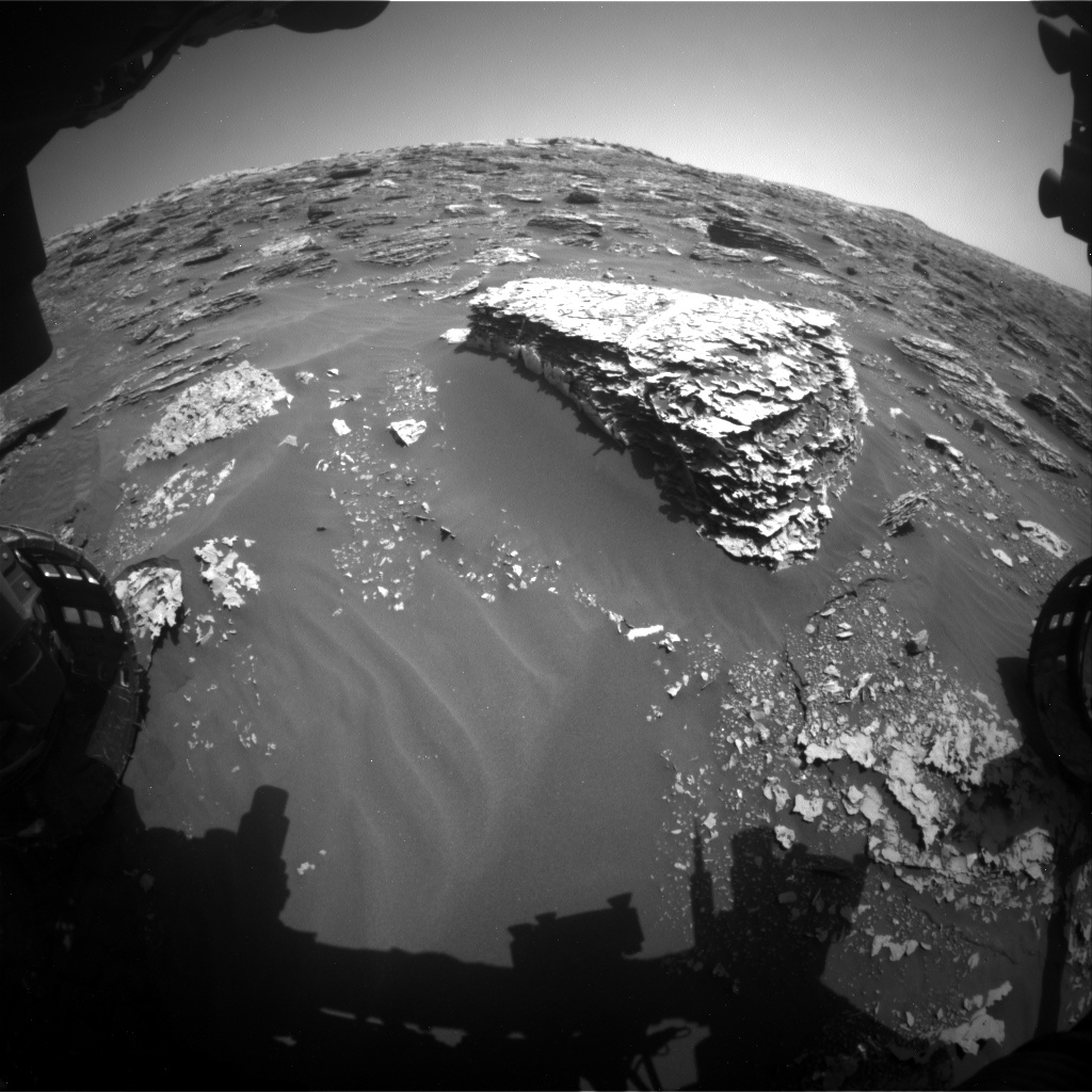 Nasa's Mars rover Curiosity acquired this image using its Front Hazard Avoidance Camera (Front Hazcam) on Sol 2053, at drive 1752, site number 70