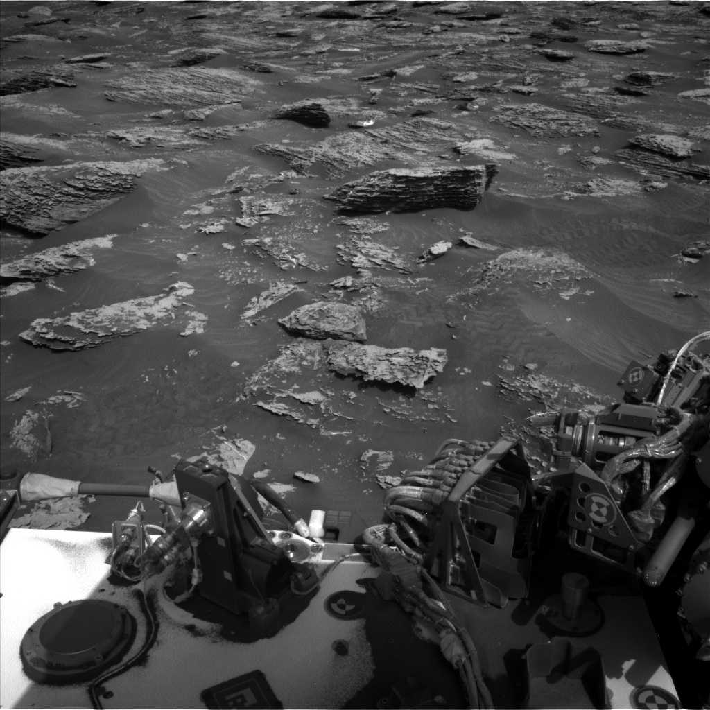 Nasa's Mars rover Curiosity acquired this image using its Left Navigation Camera on Sol 2053, at drive 1752, site number 70