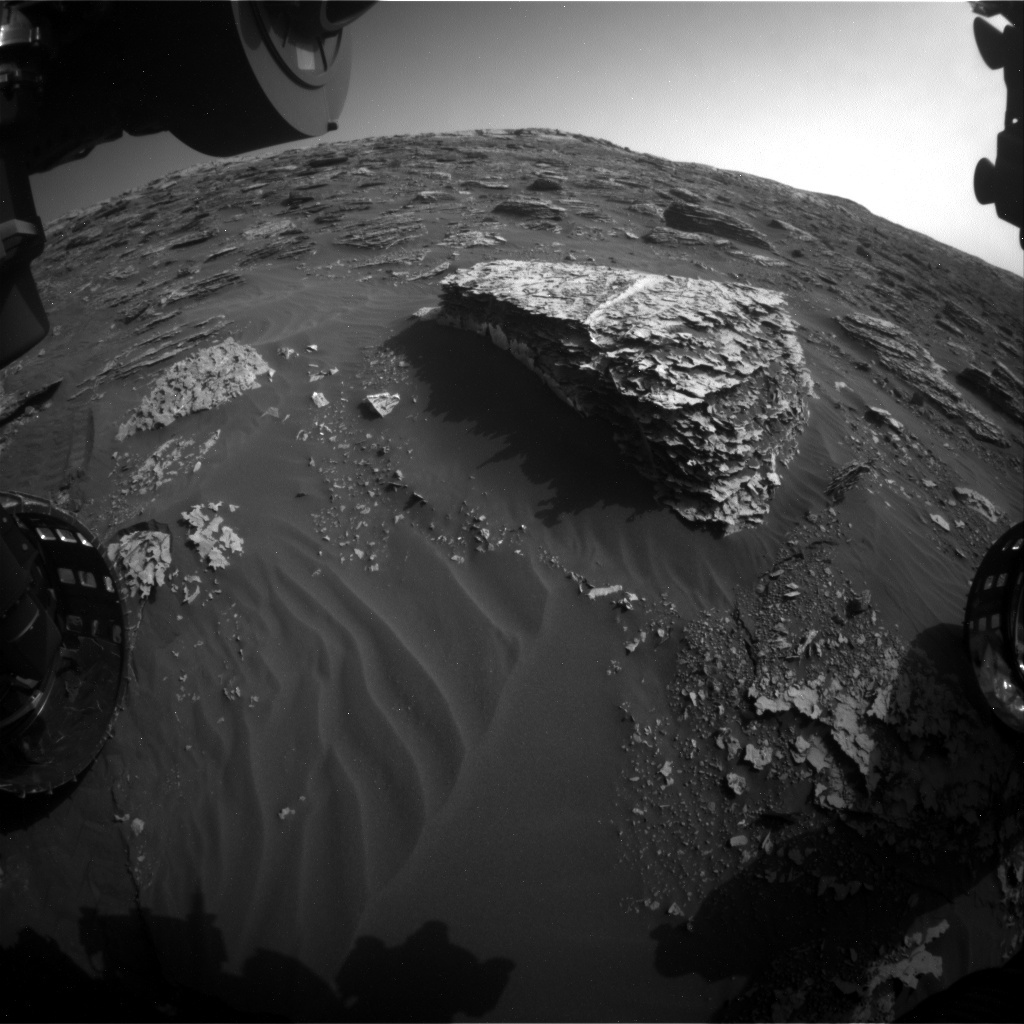 NASA's Mars rover Curiosity acquired this image using its Front Hazard Avoidance Cameras (Front Hazcams) on Sol 2054