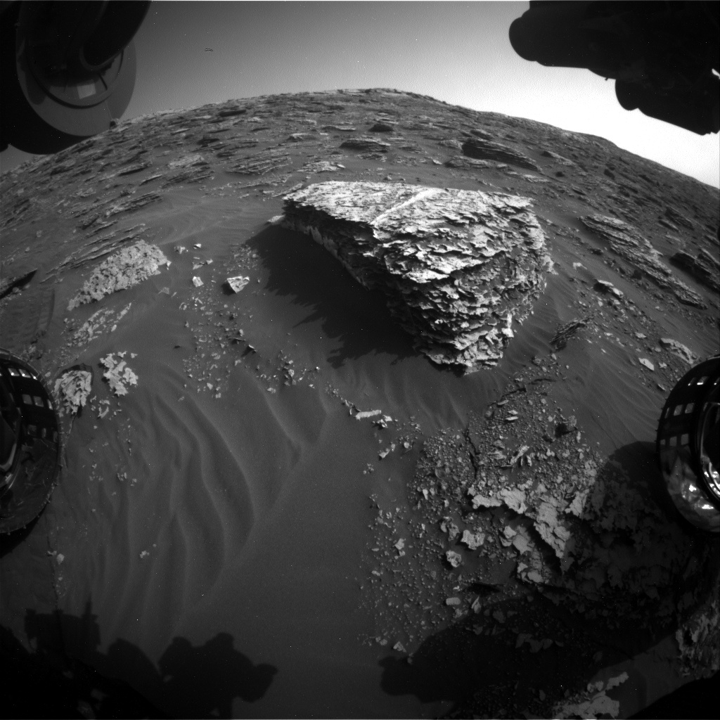 Nasa's Mars rover Curiosity acquired this image using its Front Hazard Avoidance Camera (Front Hazcam) on Sol 2054, at drive 1752, site number 70