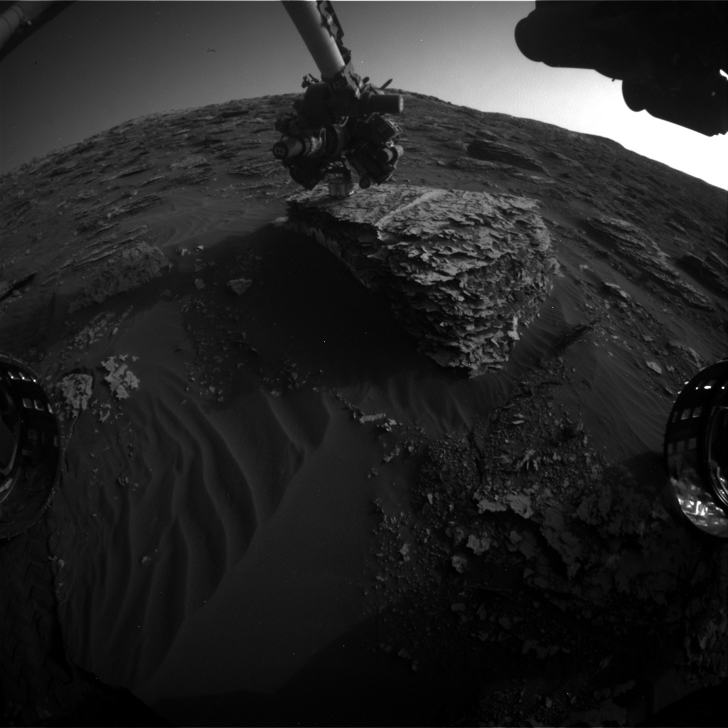 Nasa's Mars rover Curiosity acquired this image using its Front Hazard Avoidance Camera (Front Hazcam) on Sol 2055, at drive 1752, site number 70