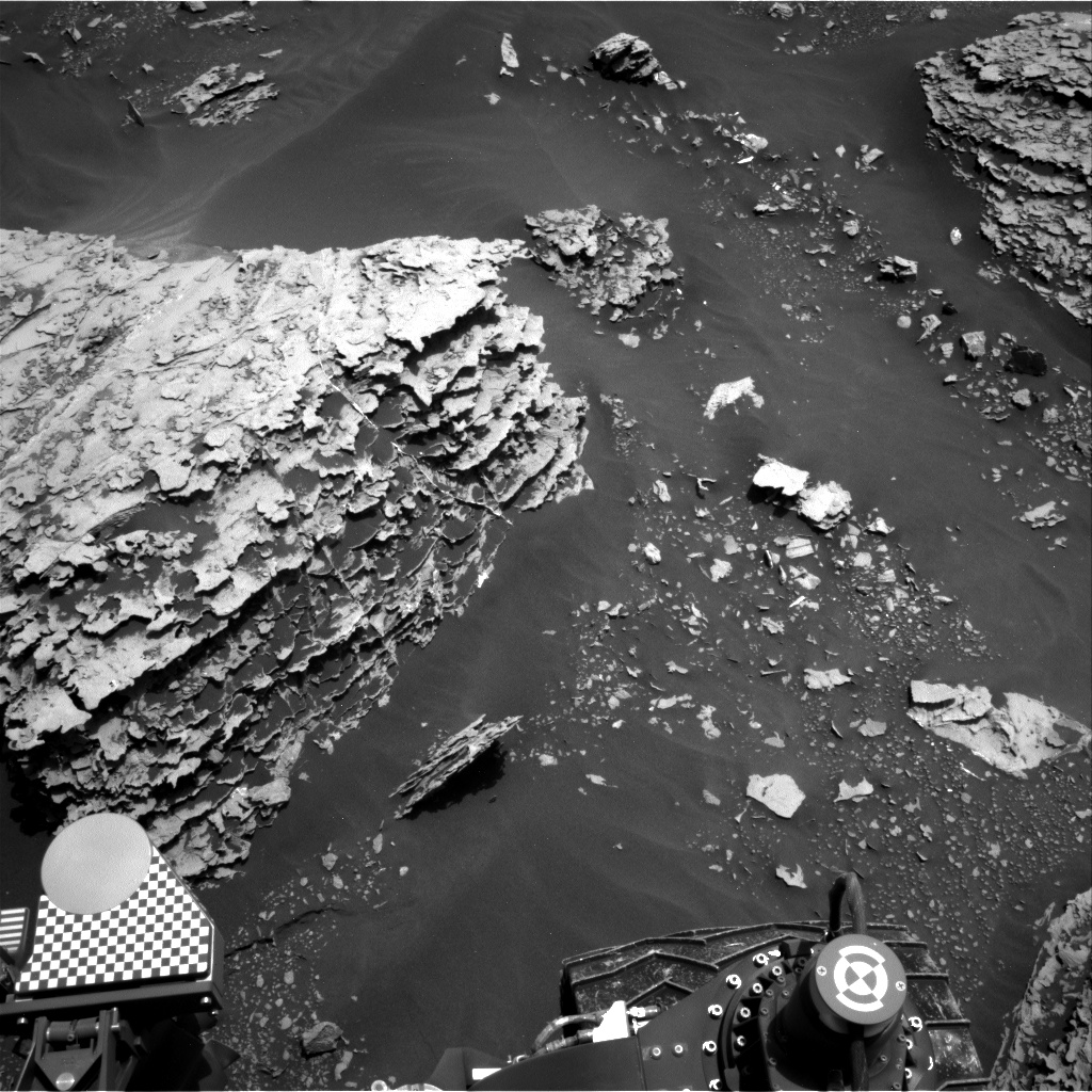 Nasa's Mars rover Curiosity acquired this image using its Right Navigation Camera on Sol 2055, at drive 1752, site number 70