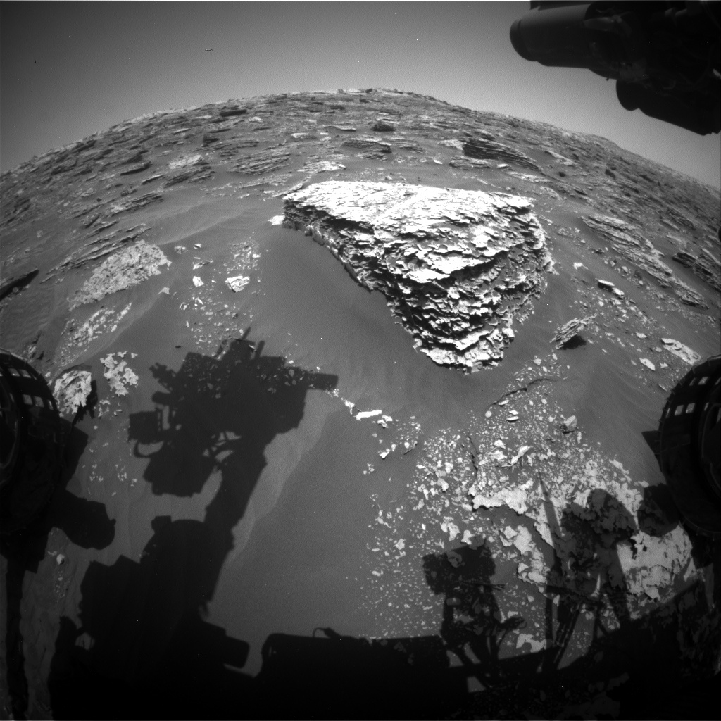 Nasa's Mars rover Curiosity acquired this image using its Front Hazard Avoidance Camera (Front Hazcam) on Sol 2056, at drive 1752, site number 70