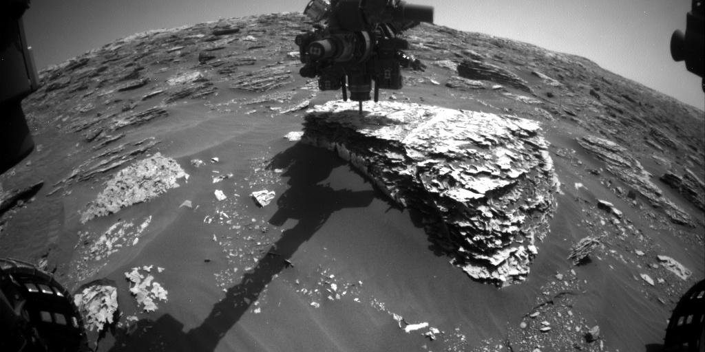 Nasa's Mars rover Curiosity acquired this image using its Front Hazard Avoidance Camera (Front Hazcam) on Sol 2057, at drive 1752, site number 70