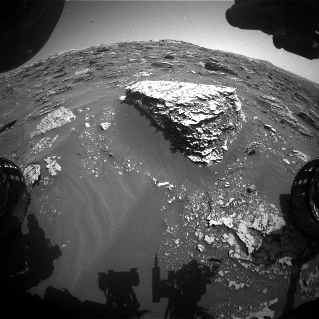 Nasa's Mars rover Curiosity acquired this image using its Front Hazard Avoidance Camera (Front Hazcam) on Sol 2058, at drive 1752, site number 70