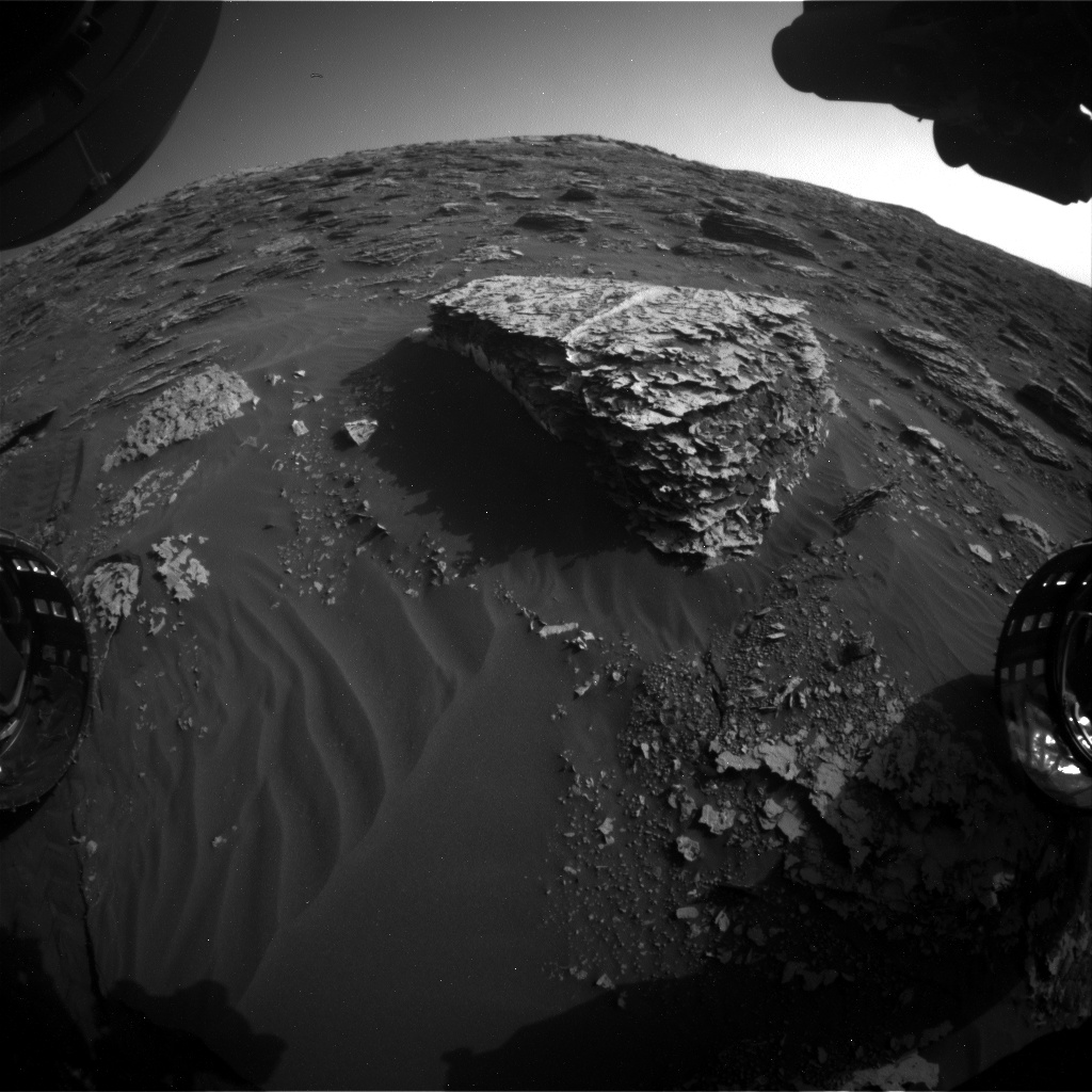 Nasa's Mars rover Curiosity acquired this image using its Front Hazard Avoidance Camera (Front Hazcam) on Sol 2059, at drive 1752, site number 70
