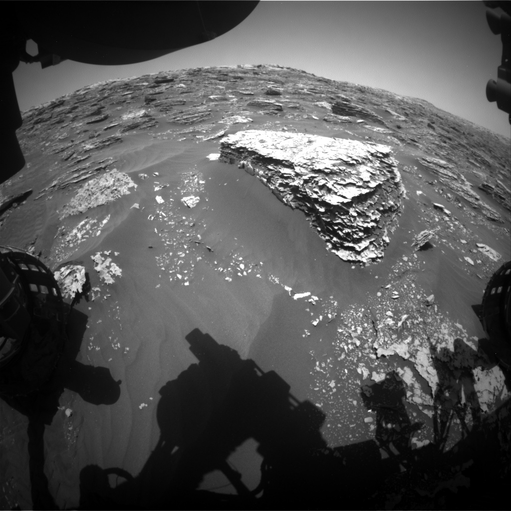 Nasa's Mars rover Curiosity acquired this image using its Front Hazard Avoidance Camera (Front Hazcam) on Sol 2060, at drive 1752, site number 70