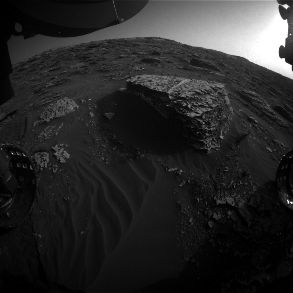 Nasa's Mars rover Curiosity acquired this image using its Front Hazard Avoidance Camera (Front Hazcam) on Sol 2061, at drive 1752, site number 70
