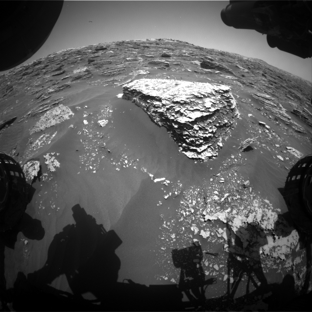 Nasa's Mars rover Curiosity acquired this image using its Front Hazard Avoidance Camera (Front Hazcam) on Sol 2062, at drive 1752, site number 70